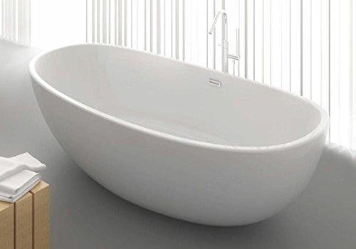 Freistehende Badewanne aus Mineralguss KZOAO-1489, Oberfläche:Glänzend