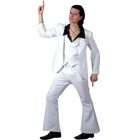 70S DISCO FEVER ADULT COSTUME FANCY DRESS UP (Samstag Kostüme Nacht)