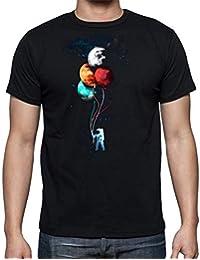 The Fan Tee Camiseta de Hombre Espacio La Tierra Cosmos Astronauta