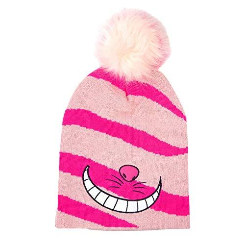 Alice im Wunderland Disney Mütze Grinsekatze mit Bommel rosa