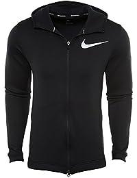 323fbd3b382e78 Nike Mens Showtime Therma Flex Basketball Hoodie schwarz weiß groß ...