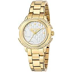 JUST CAVALLI Damen - Armbanduhr DECOR Analog Quarz Edelstahl R7253216502