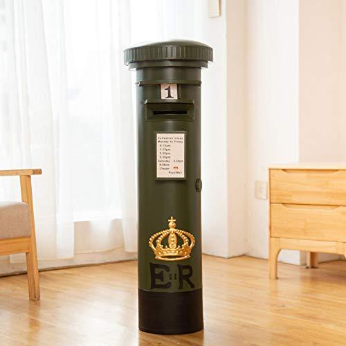 Zyhoue Spardosen-Sparschwein Pfand Topf Papier Geld Depot Box Erwachsene Können Wünschenswerte Eisen Kunst Retro Briefkasten Ornament Kreativ Sparen 60cm Grün
