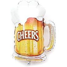 Xiton Forma 1pc Taza de Cerveza Saludos Partido Globo de la Hoja Material balón 28 x