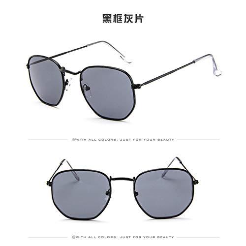 YOGER Sonnenbrillen Polygon Sonnenbrille Frauen Männer Designer Vintage Metall Billige Sonnenbrille Brillen Uv400