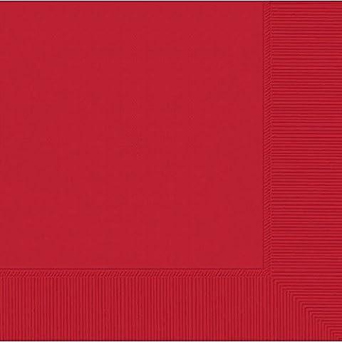 Amscan–Servietten kleine, rot (50015–40A)