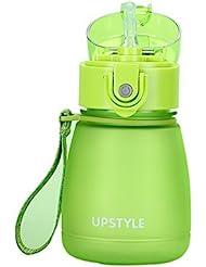 Aspiration Pipe Scrub Mode Creative Plastic Pratique Portable Travel Mugs Vert
