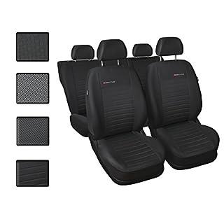 Sitzbezüge Auto Universal Set Autositzbezüge Schonbezüge Schwarz-Grau Vordersitze und Rücksitze mit Airbag System - Elegance P4