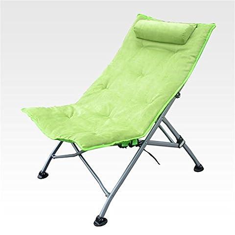 Qiangzi Chaise pliante de plage Chaise inclinable Chaises pliantes Bureau Nap Chaise longue simple Chaise enfant chaises longues Tabouret vert chaise de pêche