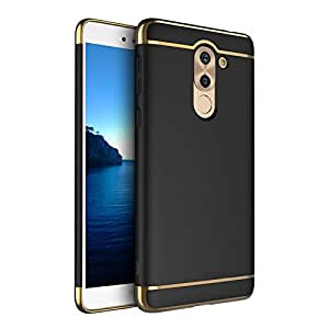 Sajni Creations *3-in-1 SHOCKPROOF* Dual Layer Thin Back Cover Case For Huawei honor 6x (BLACK)