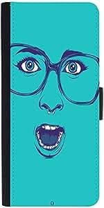 Snoogg Shocker Face Designer Protective Flip Case Cover For Samsung Galaxy Ac...