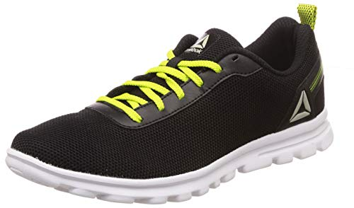 Reebok Men's Sweep Runner Black/Yellow Running Shoes-9 UK/India (43 EU)(10 US) (DV7623)