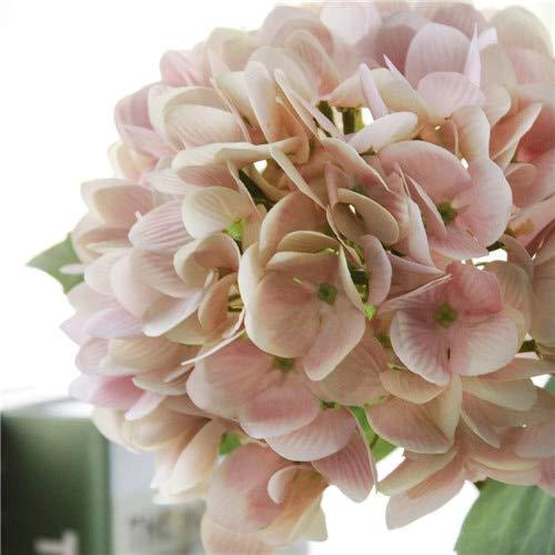 RXYY Artificial Flowers Silk Hydrangea Luxury Bride Bouquet Wedding for Party Home Bedroom Decoration Accessories, pink Petal Crown Flower Shape