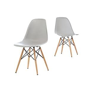 4*MOF Inspired Dining Plastic Chairs Modern Lounge Office Furniture (Black)