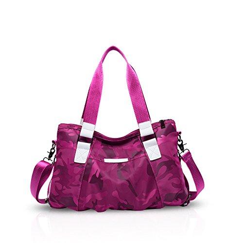 Schwarz Kapazität Schulranzen Rose DORIS Nylon Frau NICOLE Tarnung Schultertasche Leicht Reisetasche Handtaschen Grosse Wasserdicht Umhängetasche Tote 0zw6q