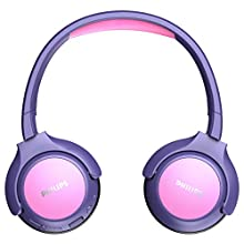 Philips Children's Headphones KH402PK/00 Wireless On Ear Headphones (Bluetooth, 85 db, 20 hours Play Time, LED Panel, Soft Ear Pads) Pink