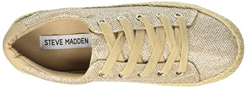 Steve Madden Static, basket-ball femme Beige (Gold Nat)
