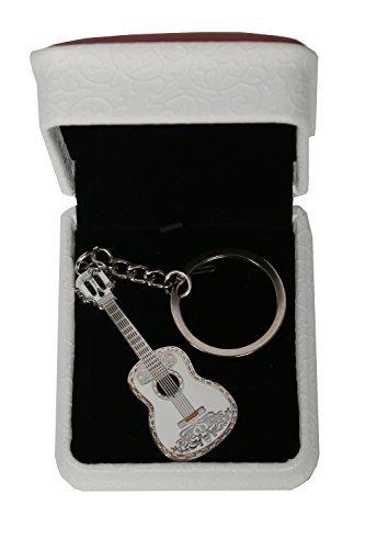 Mesky Llavero de Guitarra Anillo de Llave Coco Accesorio de Cosplay Regalo para Amigos Pareja Nuevo