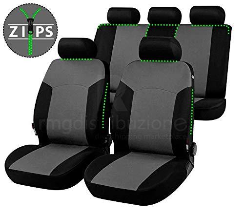 rmg-distribuzione Coprisedili per YPSILON Versione (2003 -2011) compatibili con sedili con airbag, bracciolo Laterale, sedili Posteriori sdoppiabili R01S0396