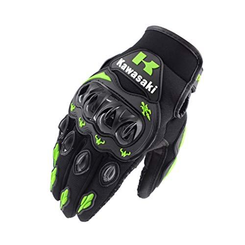 Qianliuk Mens Leder Radfahren Motorrad Handschuhe Erwachsene Off-Road Vollfinger Motorrad Handschuh Motocross Motoraing Schutzhandschuhe