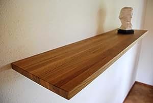 Ligneatura wandboard wandregal eiche massivholz ge lt 100 x 22 cm k che - Wandboard 30 cm tief ...