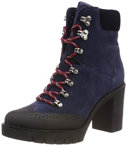 Tommy Hilfiger Modern Hiking Heeled Boot, Botas Militar para Mujer, Azul Navy 406, 36 EU