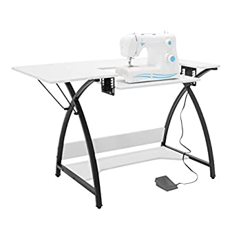 Sew Ready Comet Sewing Table, 13332, Black/White, 45.5