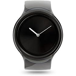 Ziiiro Ion Transparent Smoke Black Kunstoff Acryl Edelstahl Uhr elegante Trend Watch