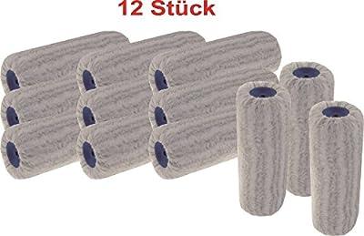 """12 x Fassaden-Walze """"Silberstreif"""", Flor: Polyamid, Florhöhe: 21 mm, Breite: 25 cm. Lösemittelbeständig, flüssigkeitsdicht, für stark strukturierte Oberflächen geeignet"""