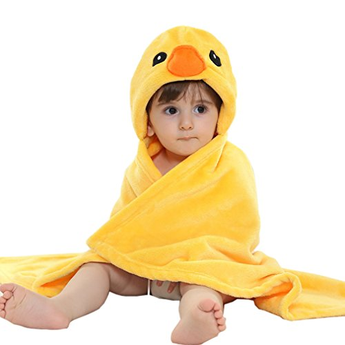 MICHLEY Baby boys and girls Hooded Animal Towel Romper Test