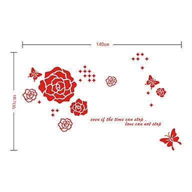 piteng- romantique Stickers muraux papillon rose en PVC
