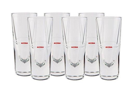 6 original Averna Gläser RED LABEL - Averna Glas - Gastro Edition