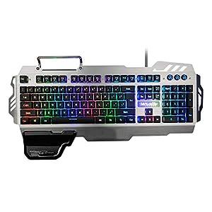 DZSF RGB-Hintergrundbeleuchtung Wired Gaming-Tastatur 25 Tasten Anti-Ghosting Ergonomie Tastatur Für Desktop-Spiele Und Typing