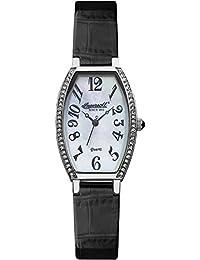 Ingersoll Quartz Damen-Armbanduhr Analog Quarz Leder INQ024WHBK
