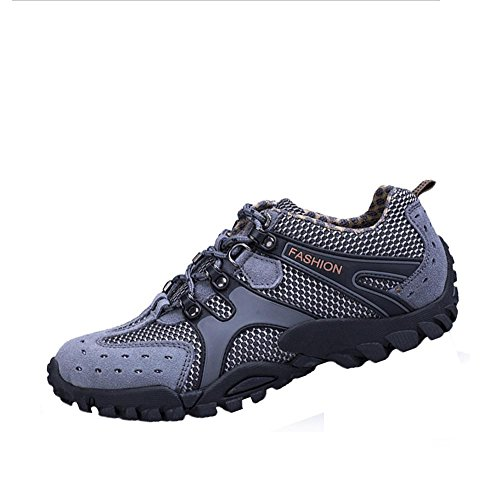 QPYC Hiking shoes men's sports shoes comfortable leather suede chiffon all season sports and leisure outdoor office professional comfortable split joints flat heels