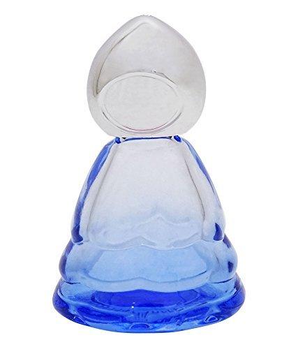 1 Paire X 10 Ml Vides Huile Essentielle De Gros Bouteilles Rechargeables Aromathérapie Parfum Roll-On Bouteilles En Verre Bleu Avec Bouchon En Argent
