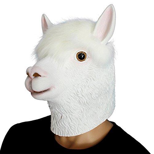 SHUNING Deluxe Neuheit-Halloween-Kostüm-Party-Latex-Tierkopf-Schablone Pferde (Halloween Zu Gemacht Kostüme Hause)