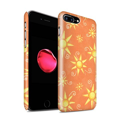 STUFF4 Matte Snap-On Hülle / Case für Apple iPhone 8 Plus / Gelb/Weiß Muster / Sonnenschein Muster Kollektion Orange/Gelb
