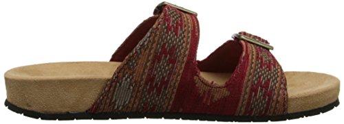 Minnetonka Gypsy Toile Sandale Rouge