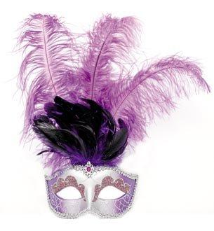 Venezianische Maske mit langer Feder, ()