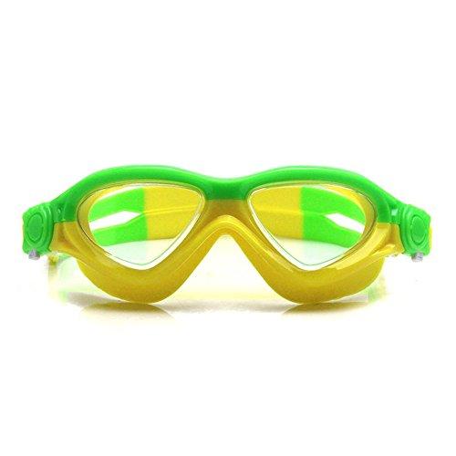 KOMNY Wasserdichte Anti - Fog, mit Brille, Jungs und mädels, high - Definition - großes Bild mit schutzbrille, Erwachsene/Kinder, Big Box, Jungs,Lake blau gelb