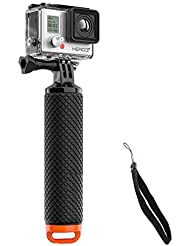 Intsun GoPro Poignée Grip Flottant poignée flottante Kit d'accessoires d'origine plongée sous-marine adapter à toutes les caméras de GoPro et SJCAM POV Dive Bouée pour GoPro Hero 2/3/3 + / 4 Sport Action caméras Mont Accessoires