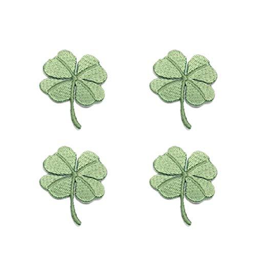 BESTOYARD 4 Stück Kleeblatt Patches Kleidung Aufnäher Bügelbilder Applikationen für Kinder Jacken Jeans Hosen Rucksäcke Tasche St. Patricks Day Kostüm - St Patrick Kostüm Kinder