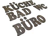 Türbuchstaben, Dekobuchstaben in exclusiver Holzoptik, I PERSONALISIERBAR I Inkl. Klebepads I I Größe 7cm