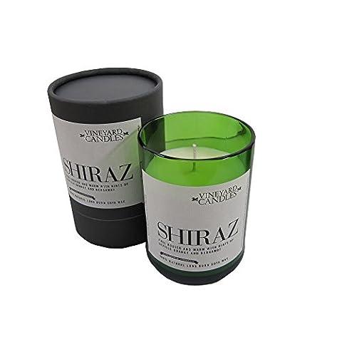 Bouteille de vin Bougie parfumée–verre à vin blanc décor–Gin & Tonic–Shiraz