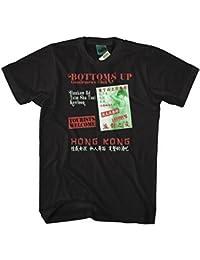 Bathroom Wall James Bond Man with The Golden Gun Inspired Bottoms up Club, Men's T-Shirt