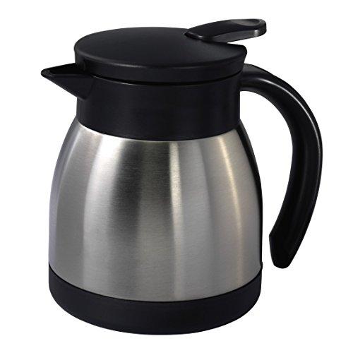 Xavax Thermoskanne klein (400 ml, Isolierkanne aus Edelstahl, für Kaffee & Tee, Höhe 12,5 cm)