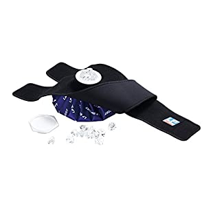 LP Support 785 Eisbeutel mit Fixierungsgurt – Ice-Bag – Eis-Pack – Erste-Hilfe Kälte-/Wärme Fixierbinde, verstellbar, Farbe:schwarz, Größe:Universalgröße