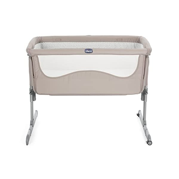 Chicco Next2me Side Sleeping Crib - Chick to Chick  Co-sleeping crib that promotes side-sleeping and allows you to sleep close to your child Can be used as a normal crib as baby grows.open size: 66/81 x 93 x 69 Uitable from birth to 6 months/9 kg or until baby can pull themselves into an upright position 2