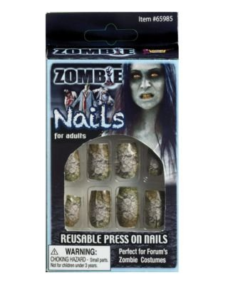 Generique - Zombie falsche Nägel Erwachsene Halloween